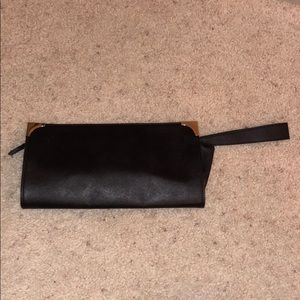 Handbags - Black clutch with gold accents